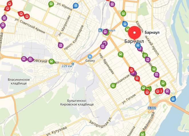 Общественный транспорт Барнаула