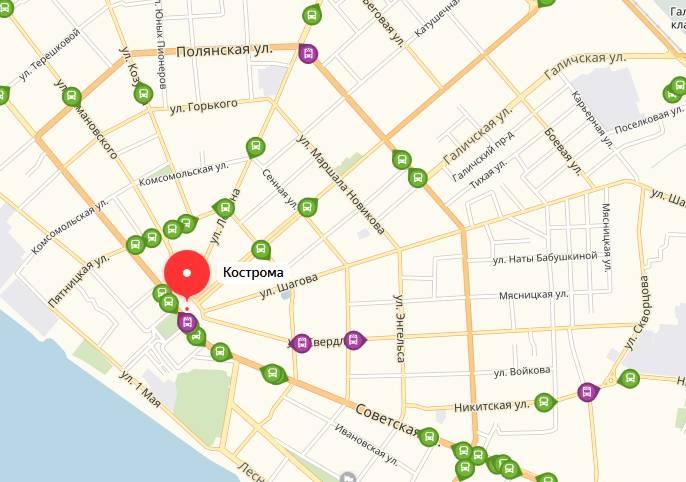 Общественный транспорт Костромы