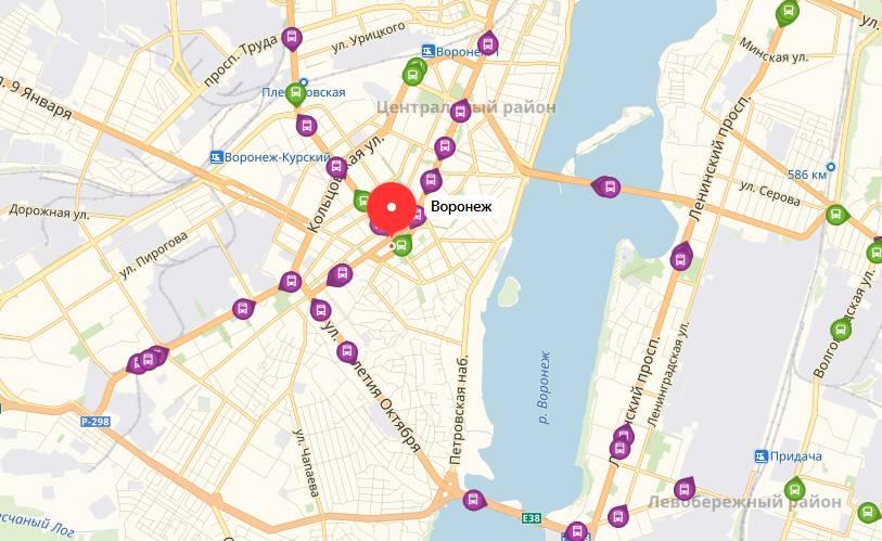 Яндекс транспорт Воронеж онлайн